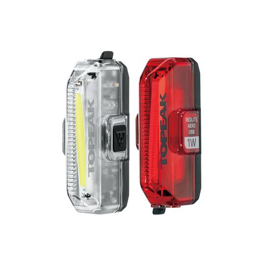 Aero USB 1W Combo 110/55 Lights | Front & Rear