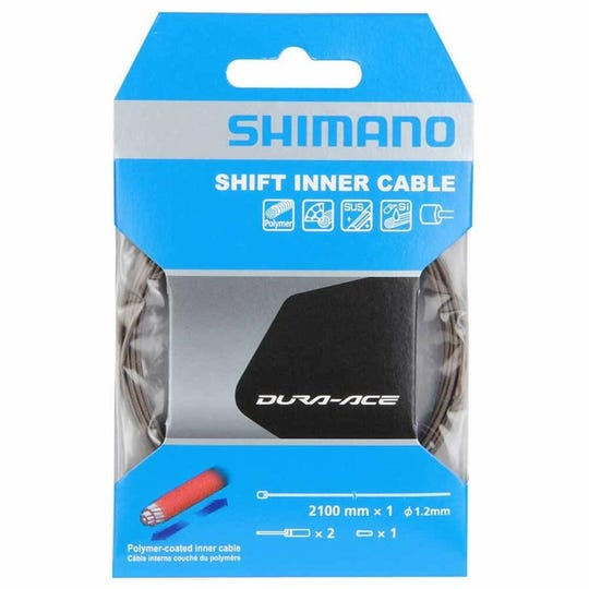 Polymer coated stainless steel derailleur cable