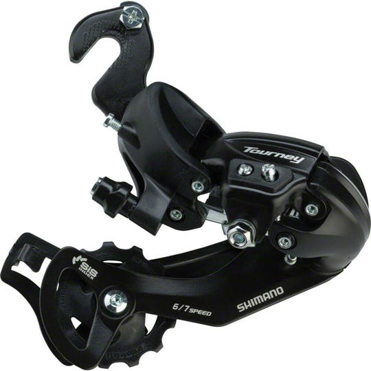 RD-TY300 Tourney derailleur with riveted adapter