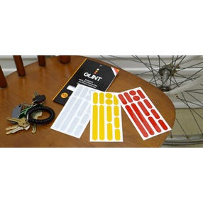 Set of reflective strips for frame 3 colors