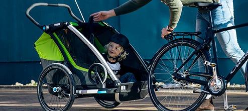 Bike trailers for children