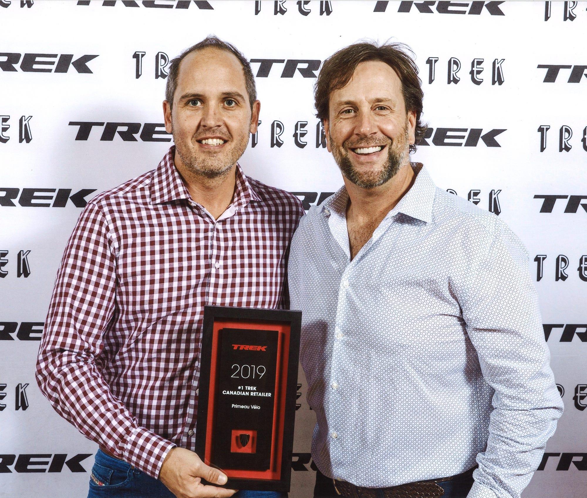 David Normand et Éric Primeau - Primeau Vélo le plus grand détaillant Trek au Canada en 2019