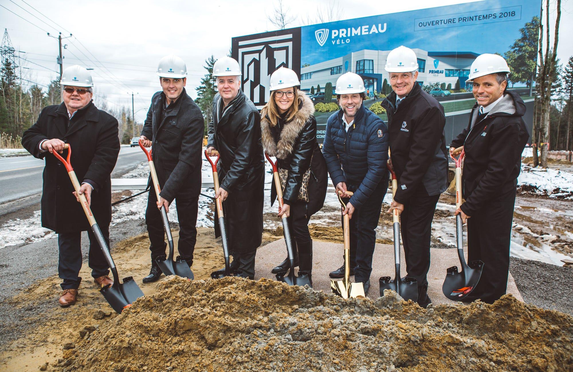David Normand et Éric Primeau - Inauguration des constructions du magasin Primeau Vélo à Blainville en 2018