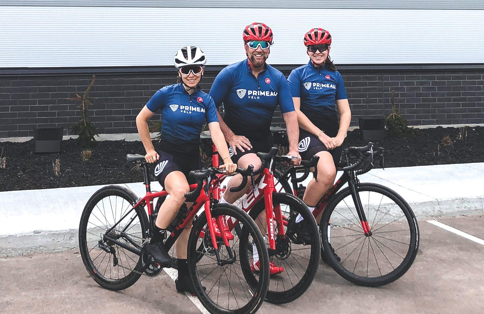 Camille Primeau, Éric Primeau et Pénélope Primeau, 3e et 4e génération de Primeau chez Primeau Vélo