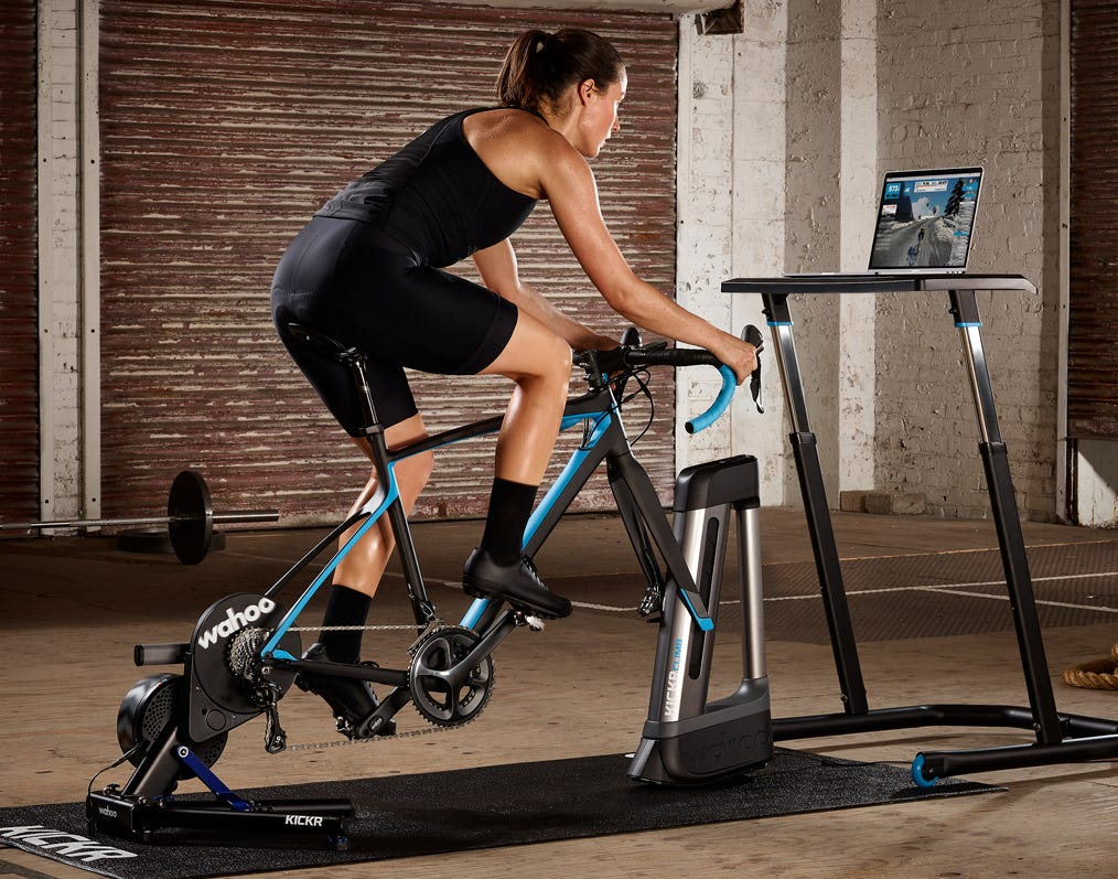 Indoor bike trainers by Wahoo, Saris, Tacx and Elite